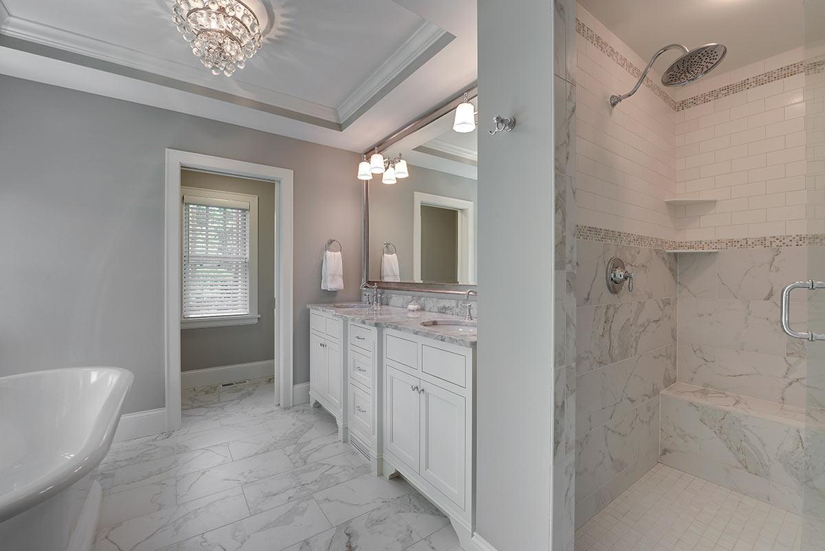 Lantern Tile In Bathroom