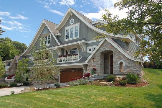 Great neighborhood homes custom home builder east for Exterior design studio edina mn